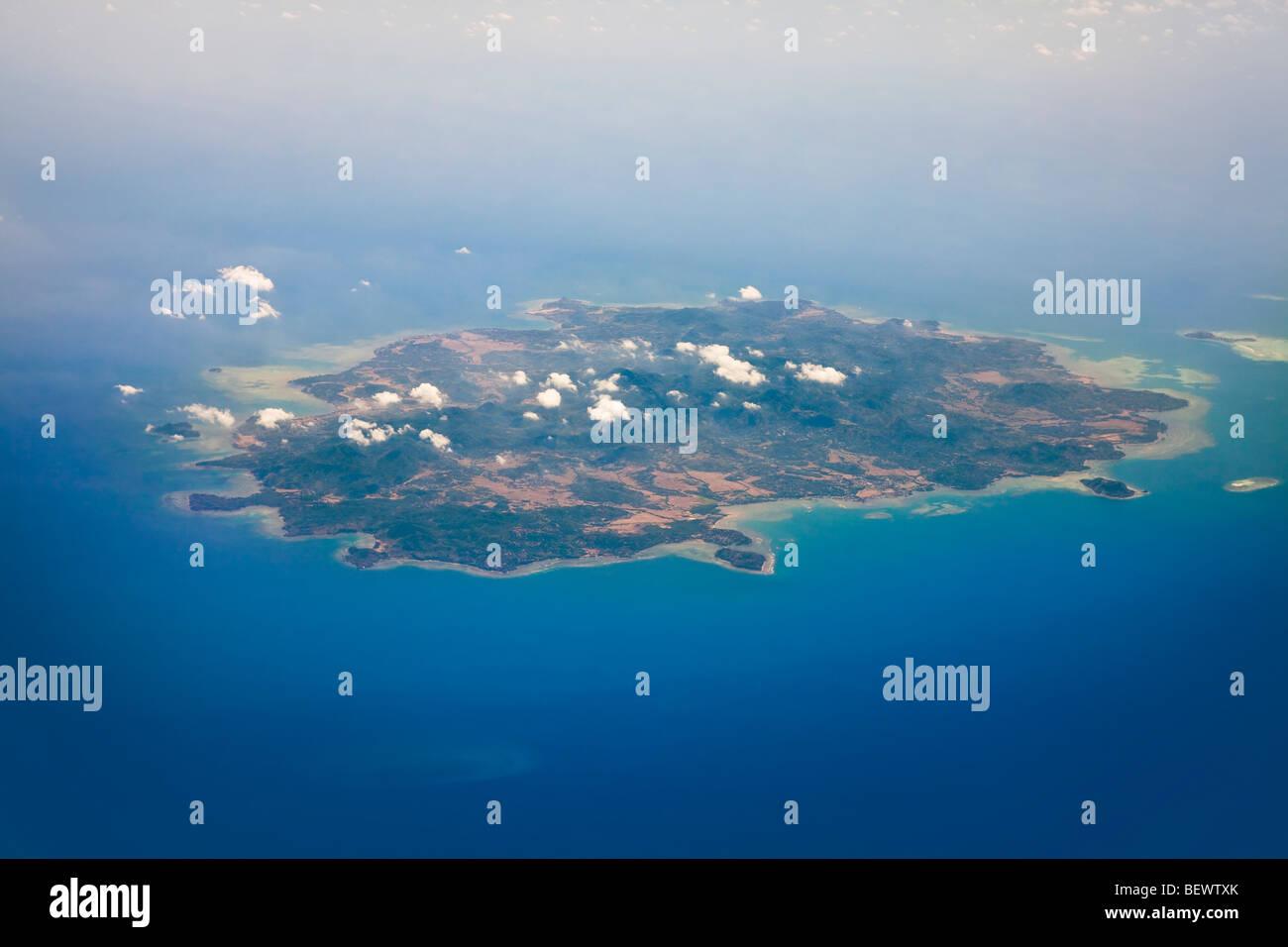 Aerial view of Pulau Bawean Island, East Java, Indonesia - Stock Image