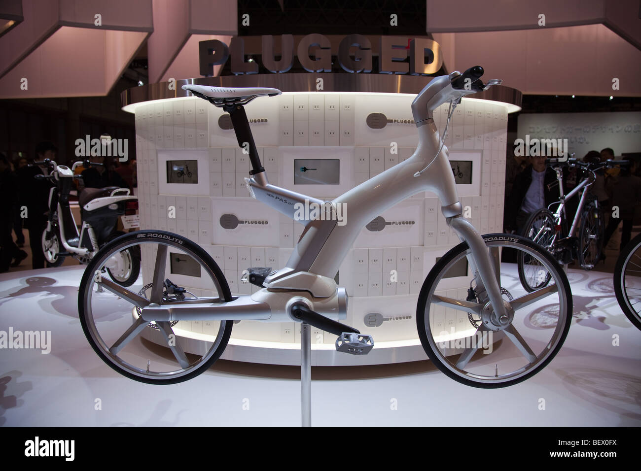 Yamaha unveils new electric bike the PAX at the Tokyo Motor Show - Stock Image