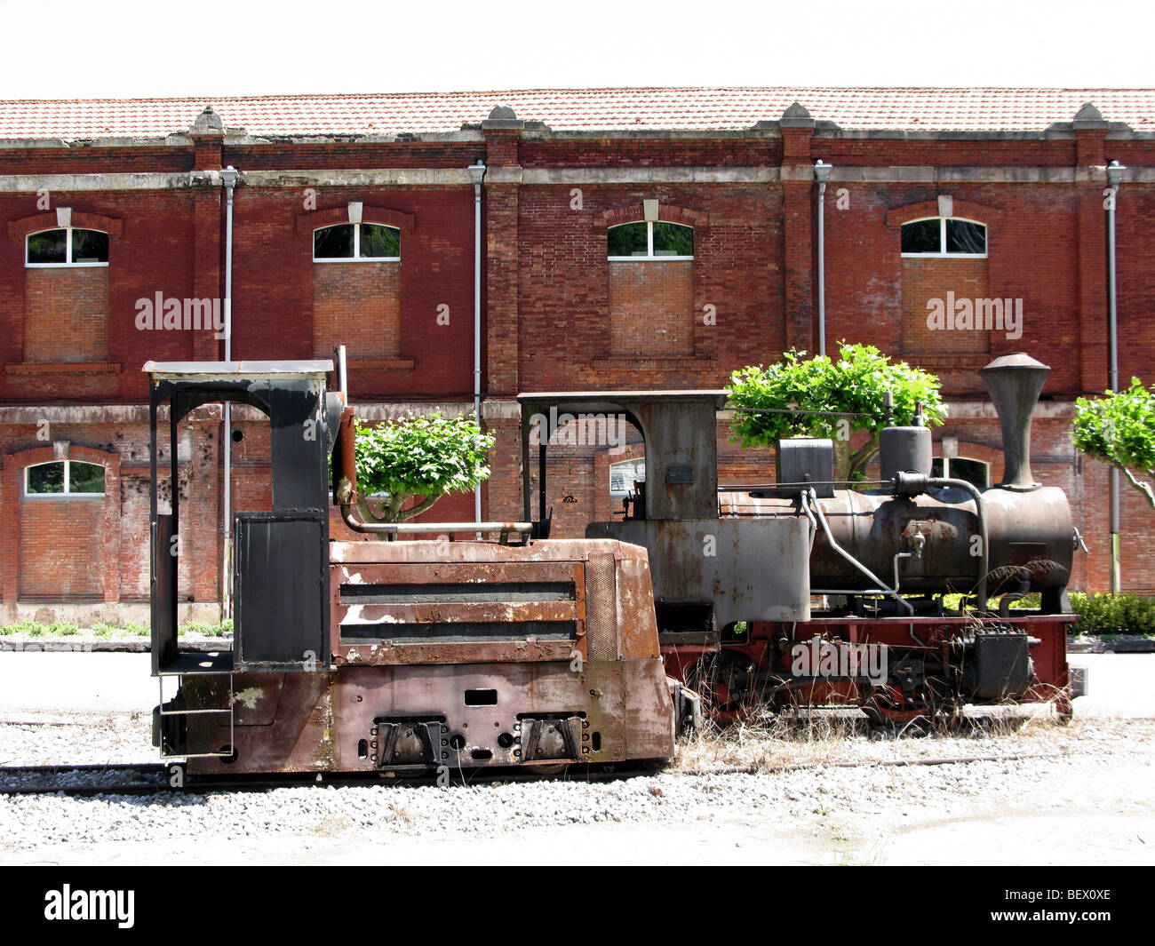 Former 'Pozo Fondon' coal mine and asturian mining archives - Stock Image