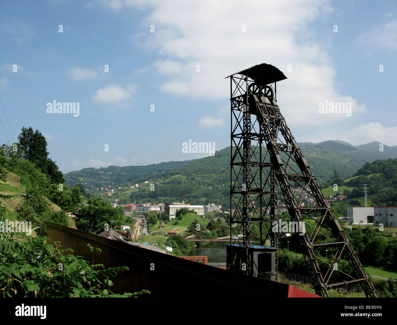 Former 'Pozo San Vicente' coal mine and Mining Museum - Stock Image