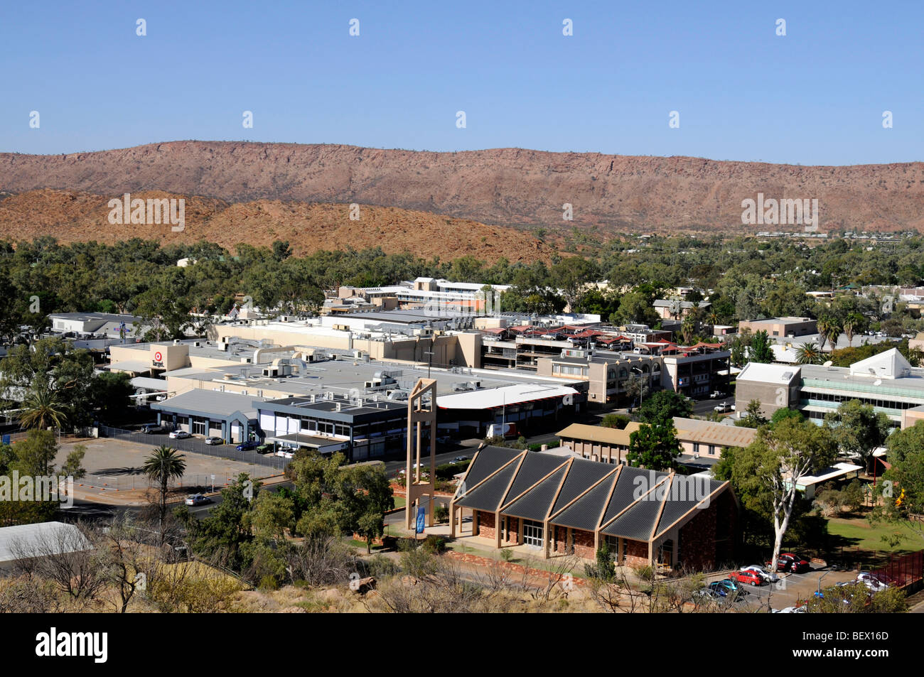 Skyline of Alice Springs, Australia - Stock Image