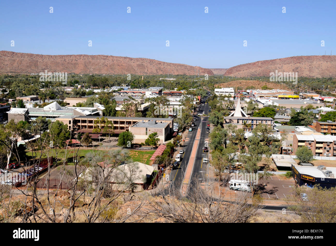 Veiw from  ANZAC hill in Alice Springs, Australia - Stock Image