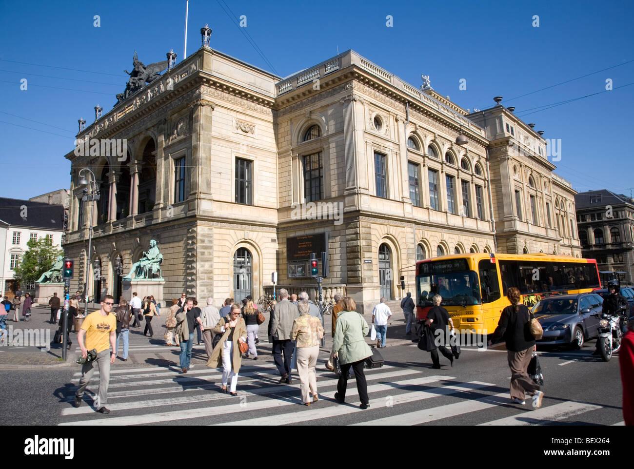 The Royal Danish Theatre at Kongens Nytorv, Copenhagen - Stock Image