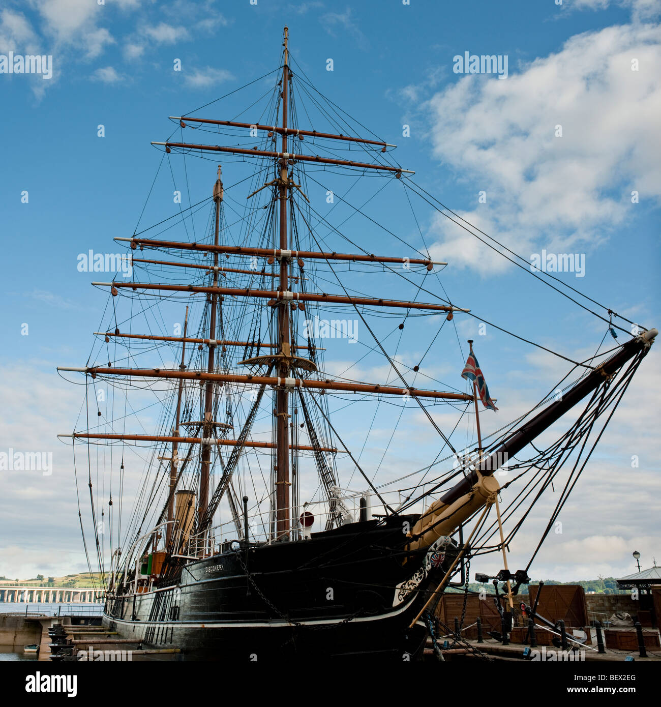 RRS Discovery, Dundee, Scotland. Antarctic expedition ship built in 1901 Stock Photo
