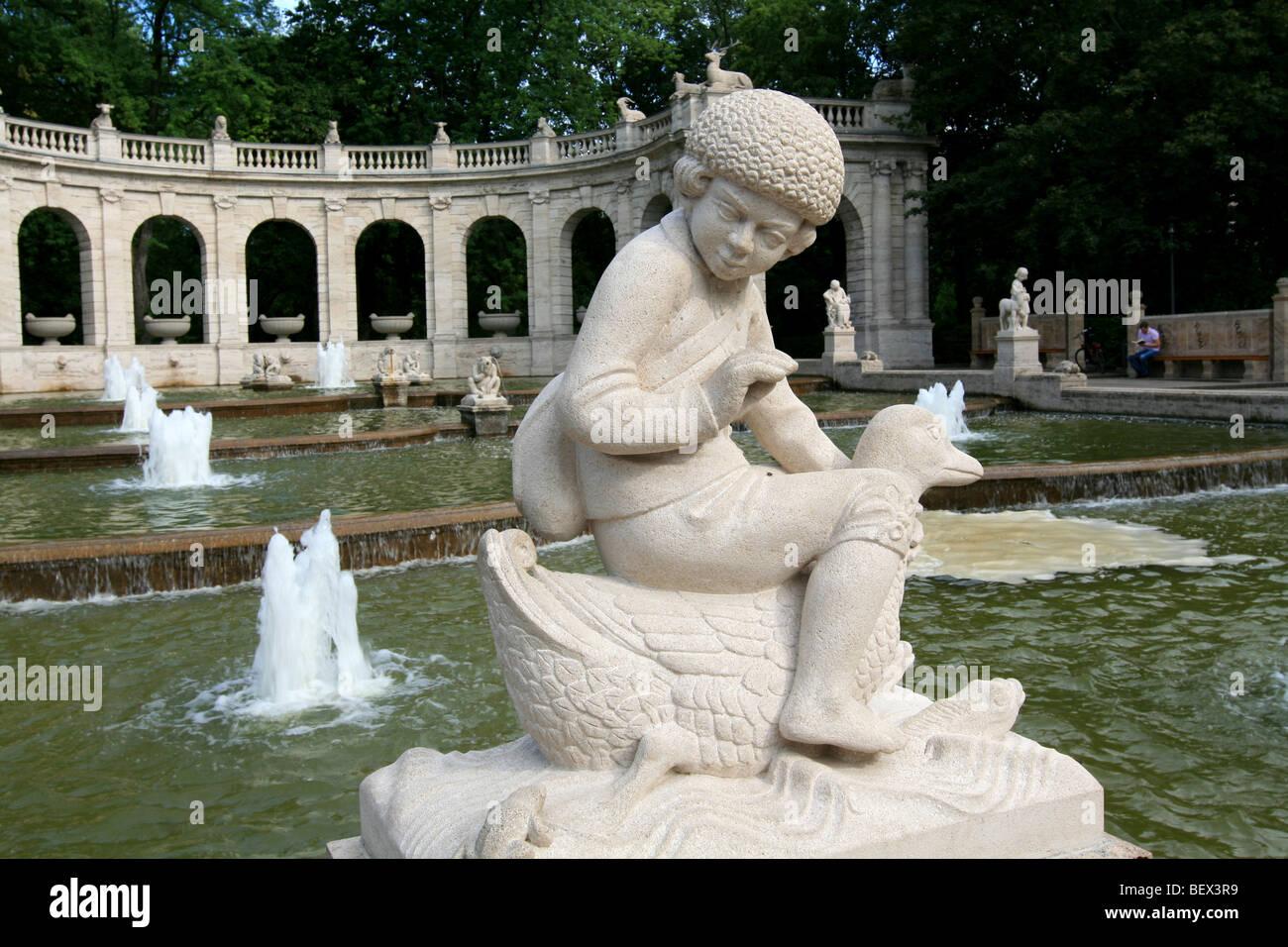 Fountain of Fairy Tales, Volkspark Friedrichshain, Berlin - Stock Image
