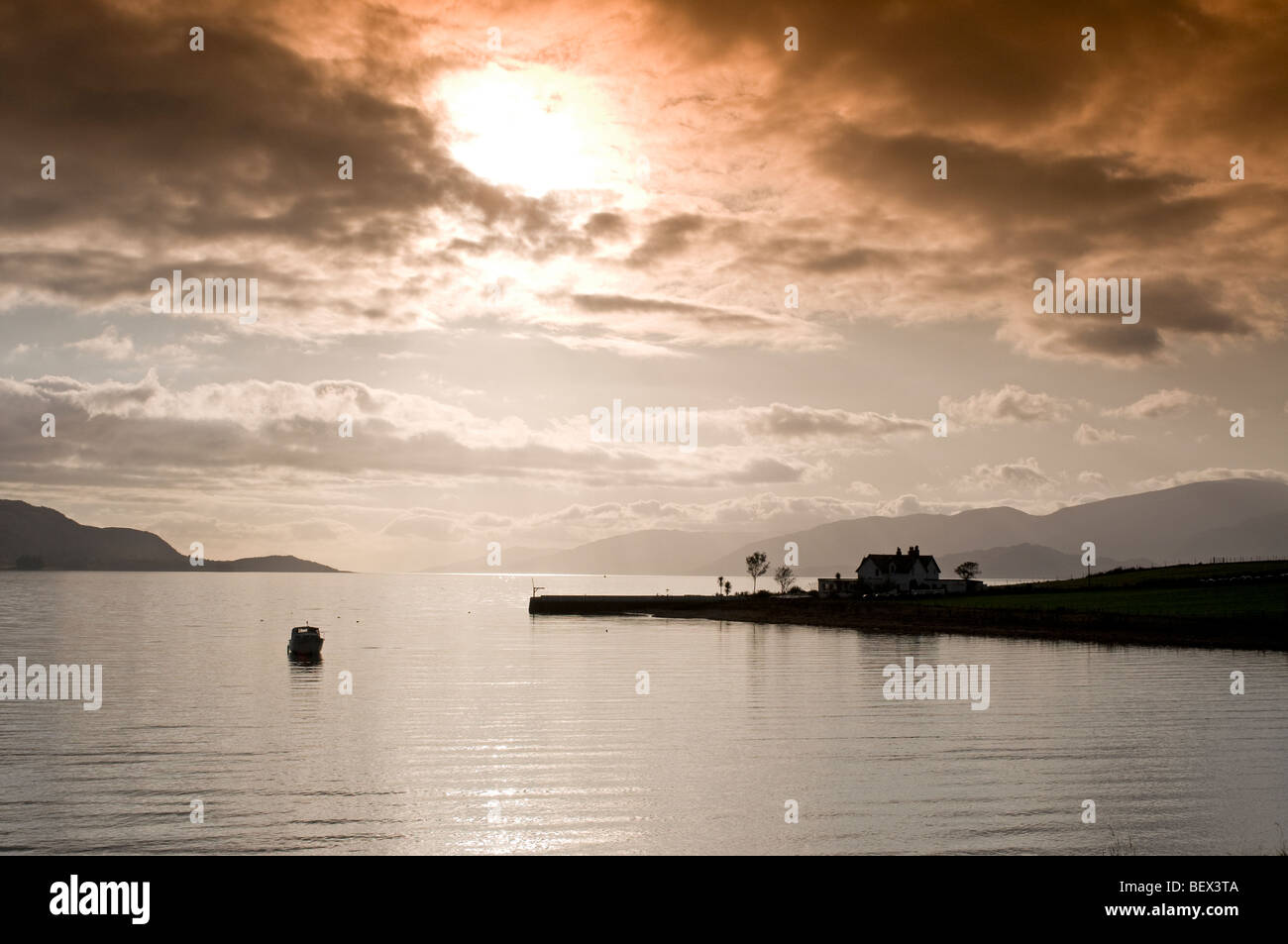 Looking west over Loch Linnhe from Onich North Ballachuilish  SCO 5400 - Stock Image