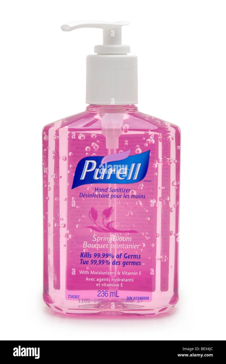 Bottle of Hand Sanitizer Gel - Stock Image