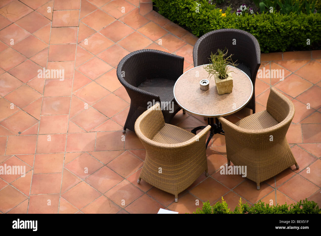 patio scene - Stock Image
