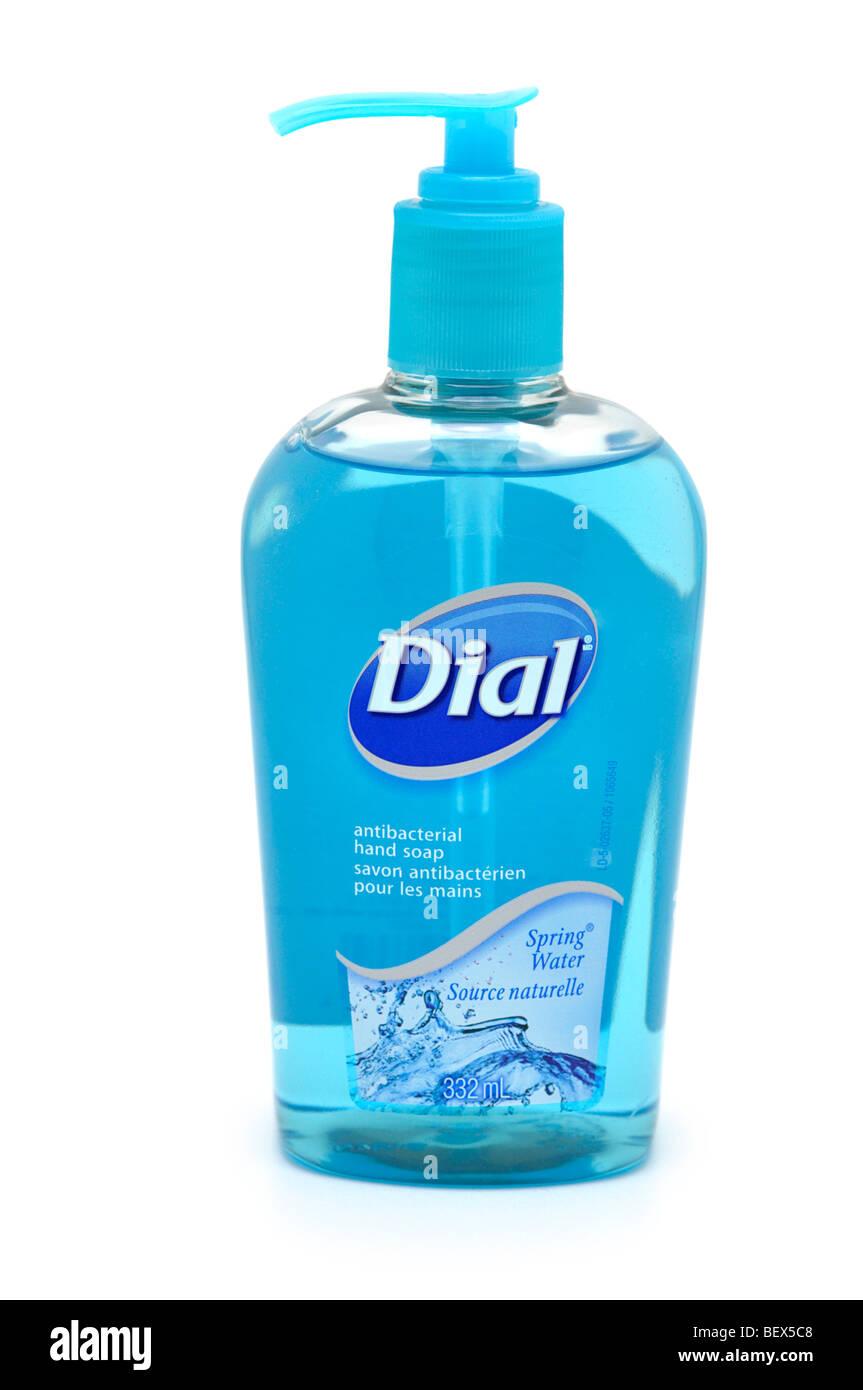 Bottle of Antibacterial Liquid Hand Soap - Stock Image