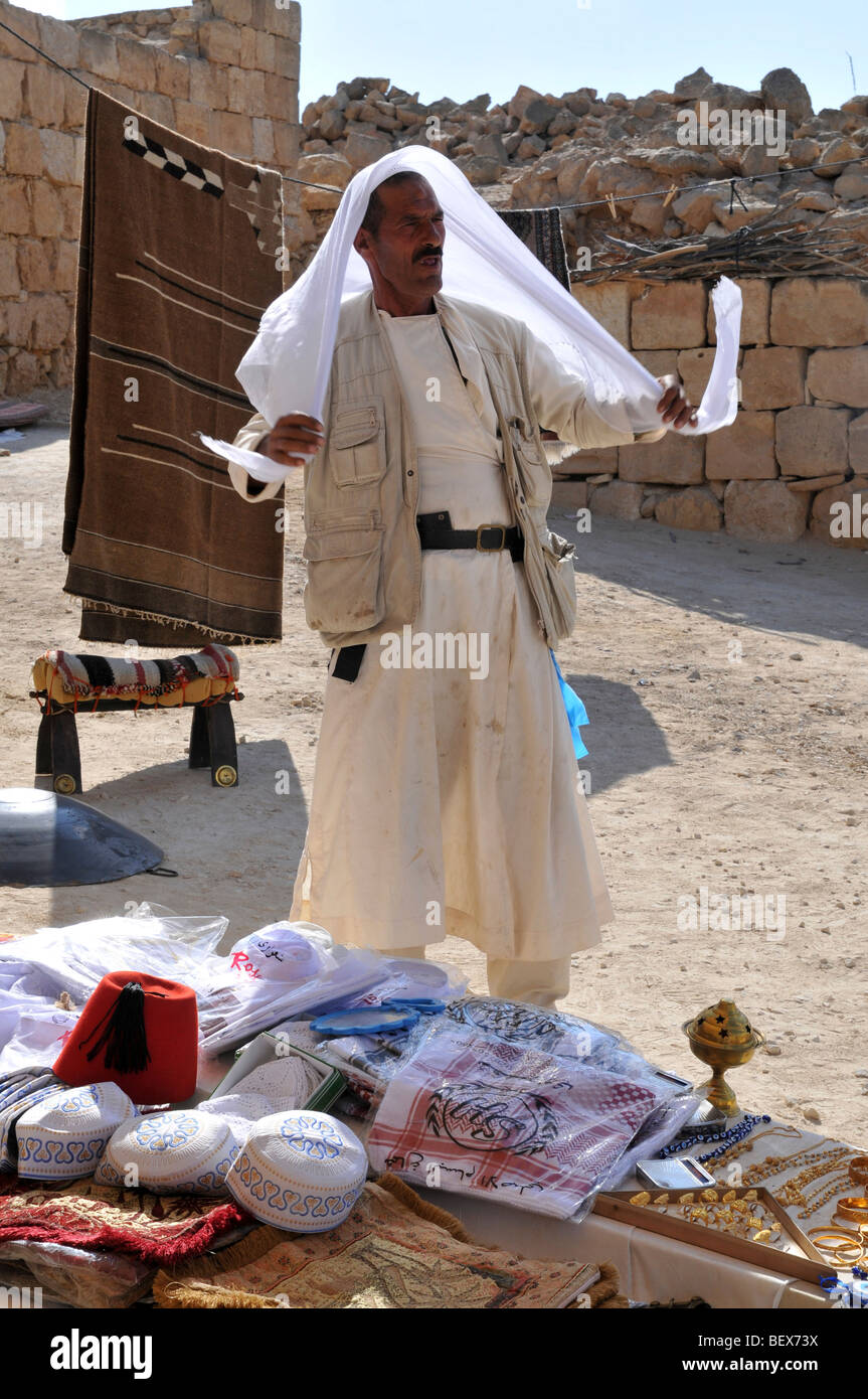 Israel, Negev Desert, Mamshit the Nabataean city of Memphis, re-enactment on the life in the Nabatean period - Stock Image