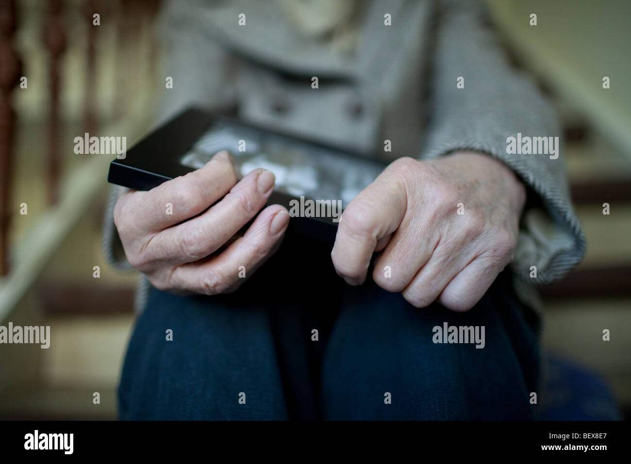 Senior with Dementia - Stock Image