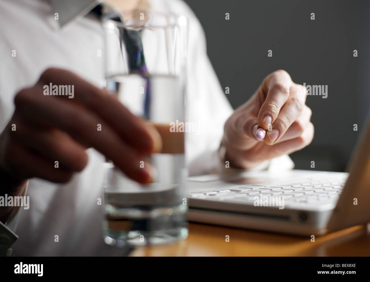 Drug abuse at work . - Stock Image
