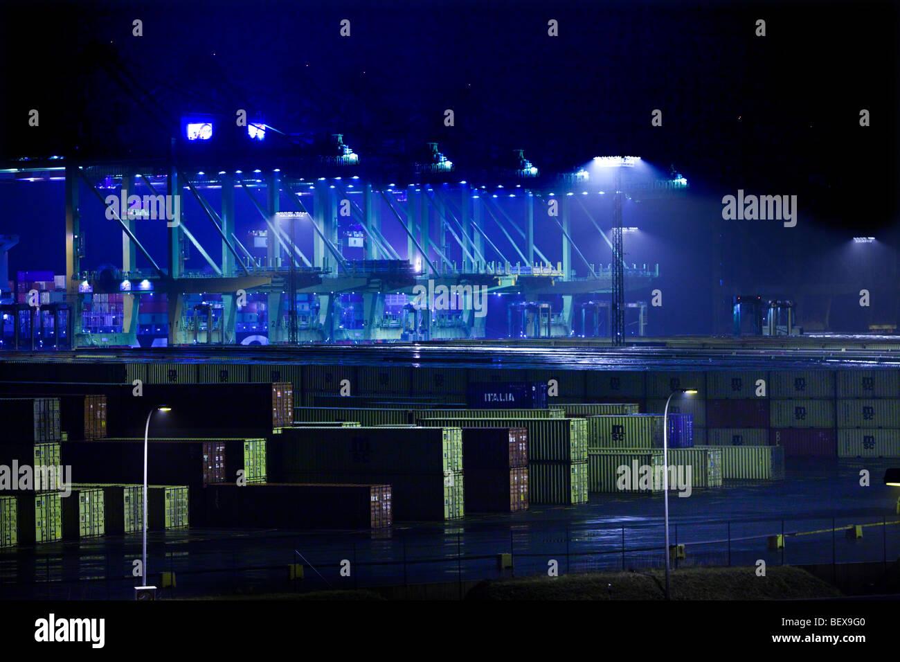 North Sea Terminal Bremerhaven , - Stock Image