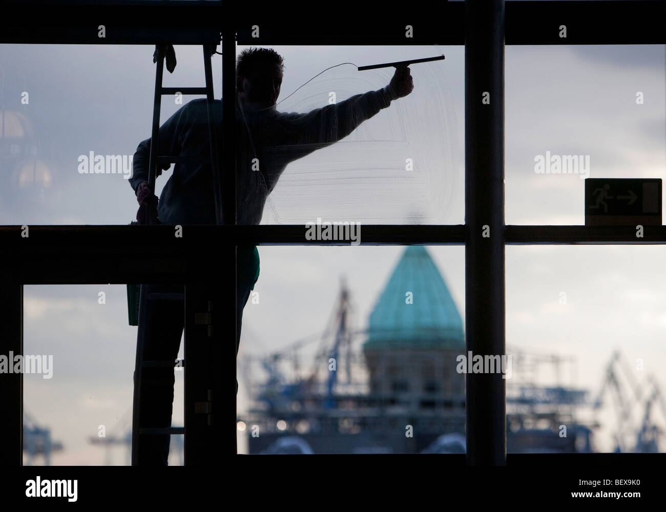 Window cleaner - Stock Image