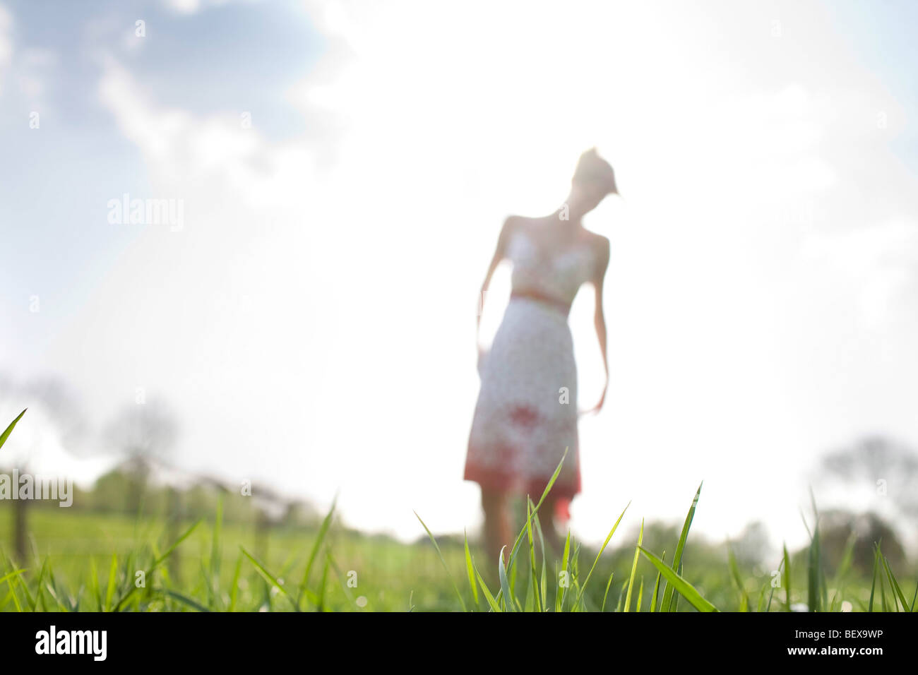 Young woman in spring - Stock Image