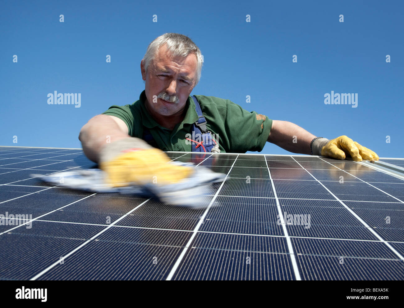 Photovoltaic system on the roof at Volkswagen AG . - Stock Image