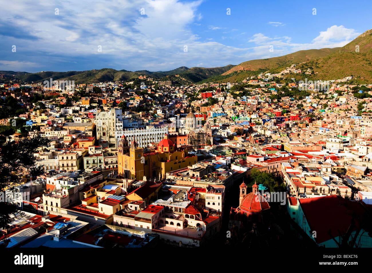 View from El Pipila, Guanajuato, Mexico Stock Photo