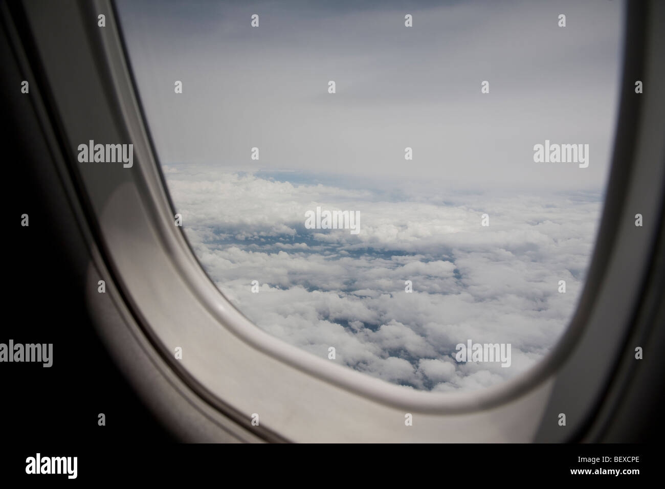 View out an airplane window. - Stock Image