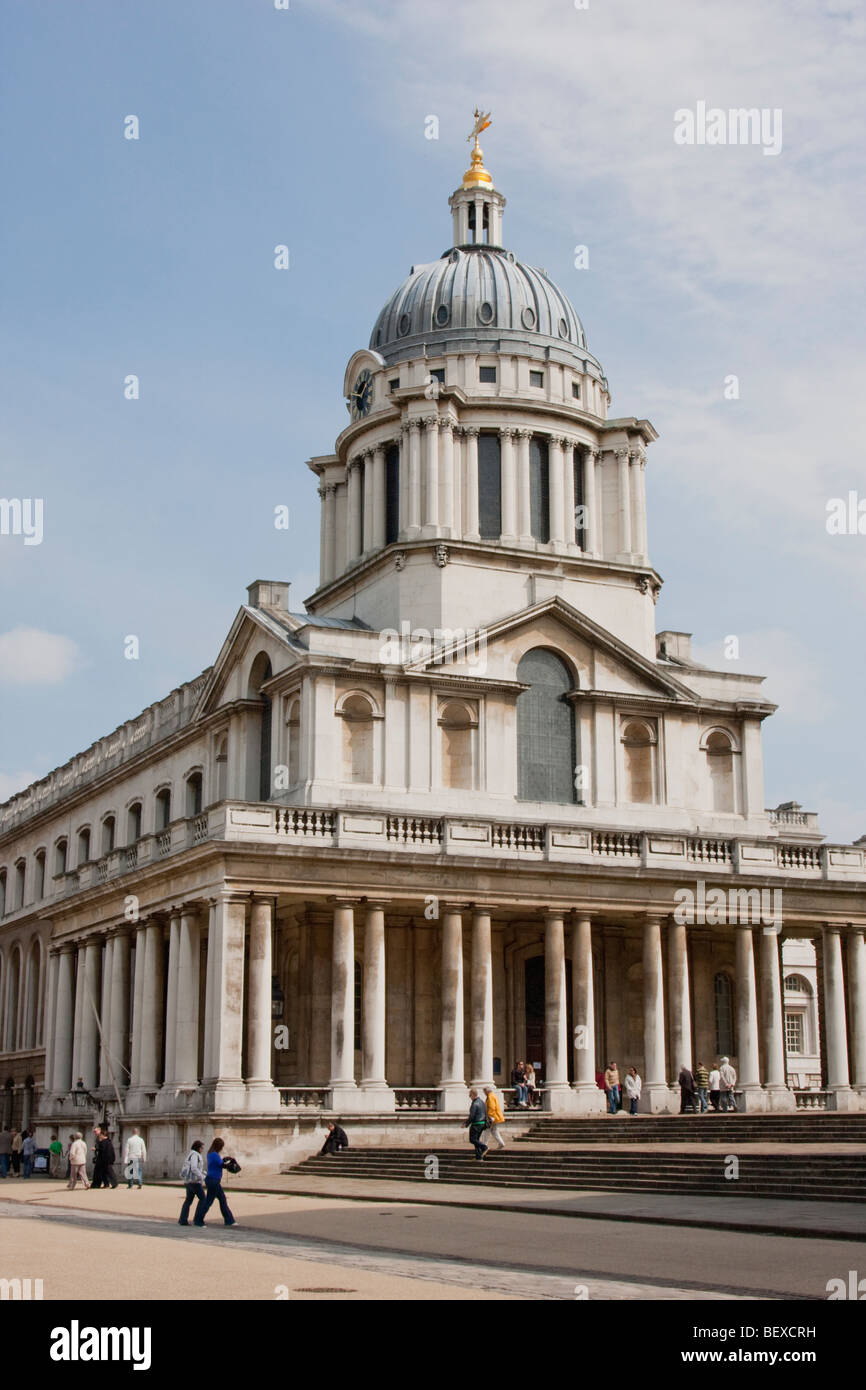 Old Royal Naval College buildings in Greenwich, London UK. Stock Photo