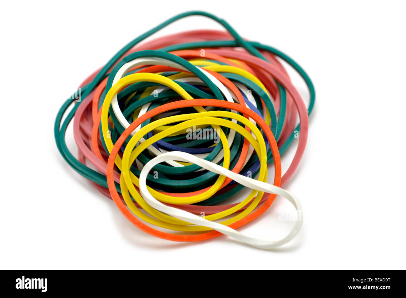 Rubber Bands - Stock Image