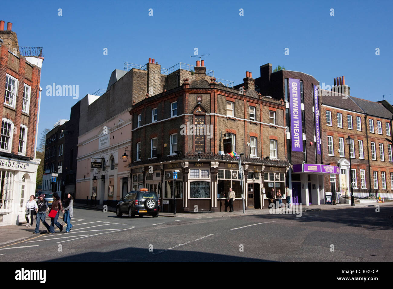 Greenwich Theatre on Stockwell Street, UK. - Stock Image