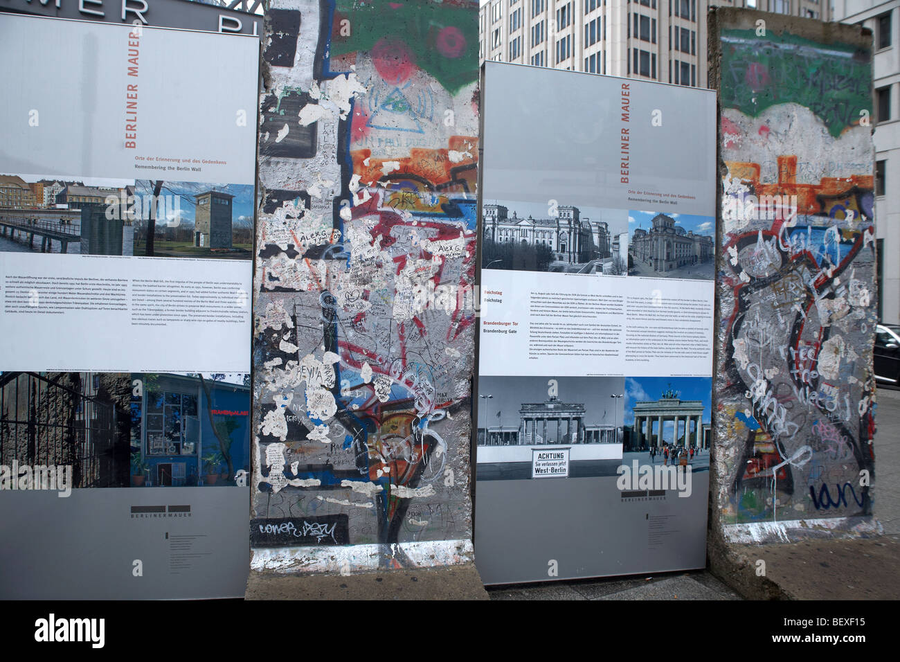 The Wall in Berlin, Berliner Mauer - Stock Image
