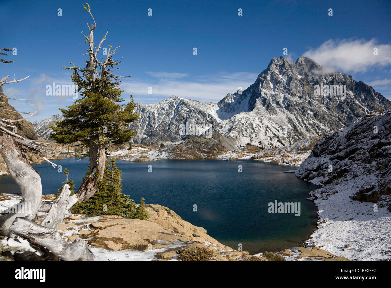 Ingalls Peak - Lake Ingalls Trail, Washington State - Stock Image