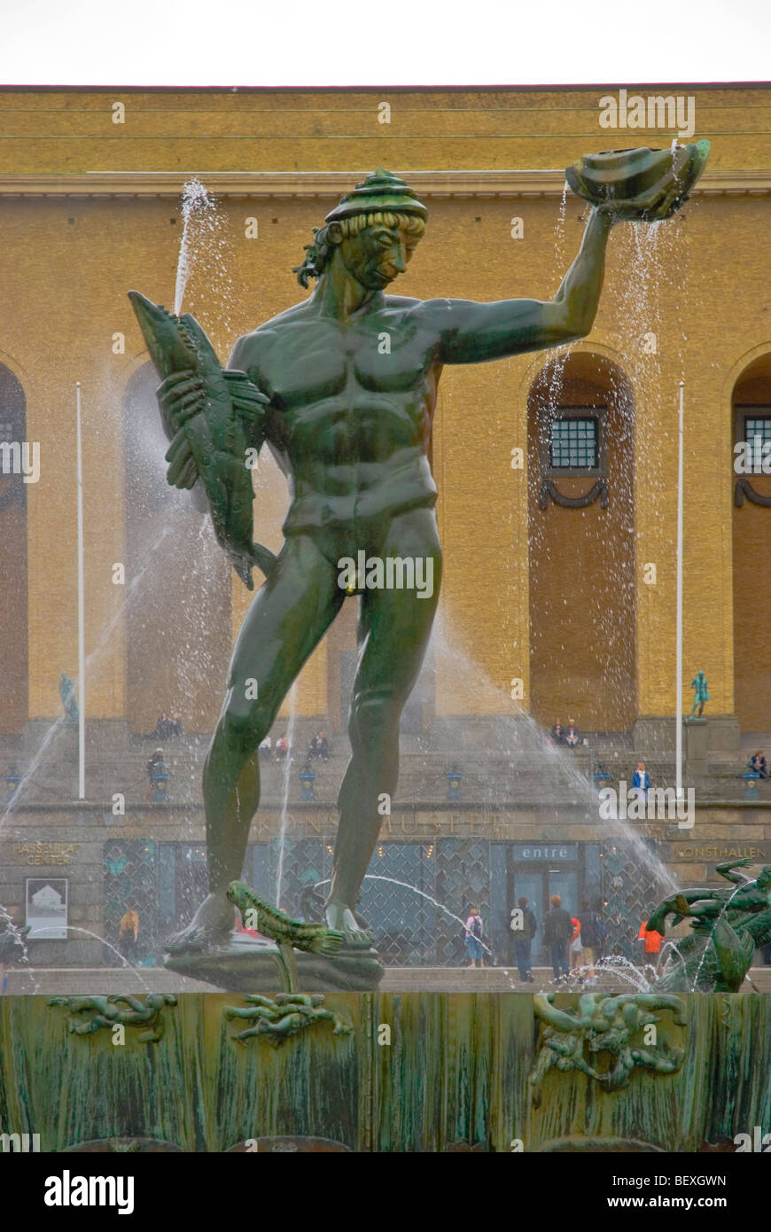 Poseidon Fountain by Carl Milles at Götapladsen in Gothenburg Sweden Europe - Stock Image
