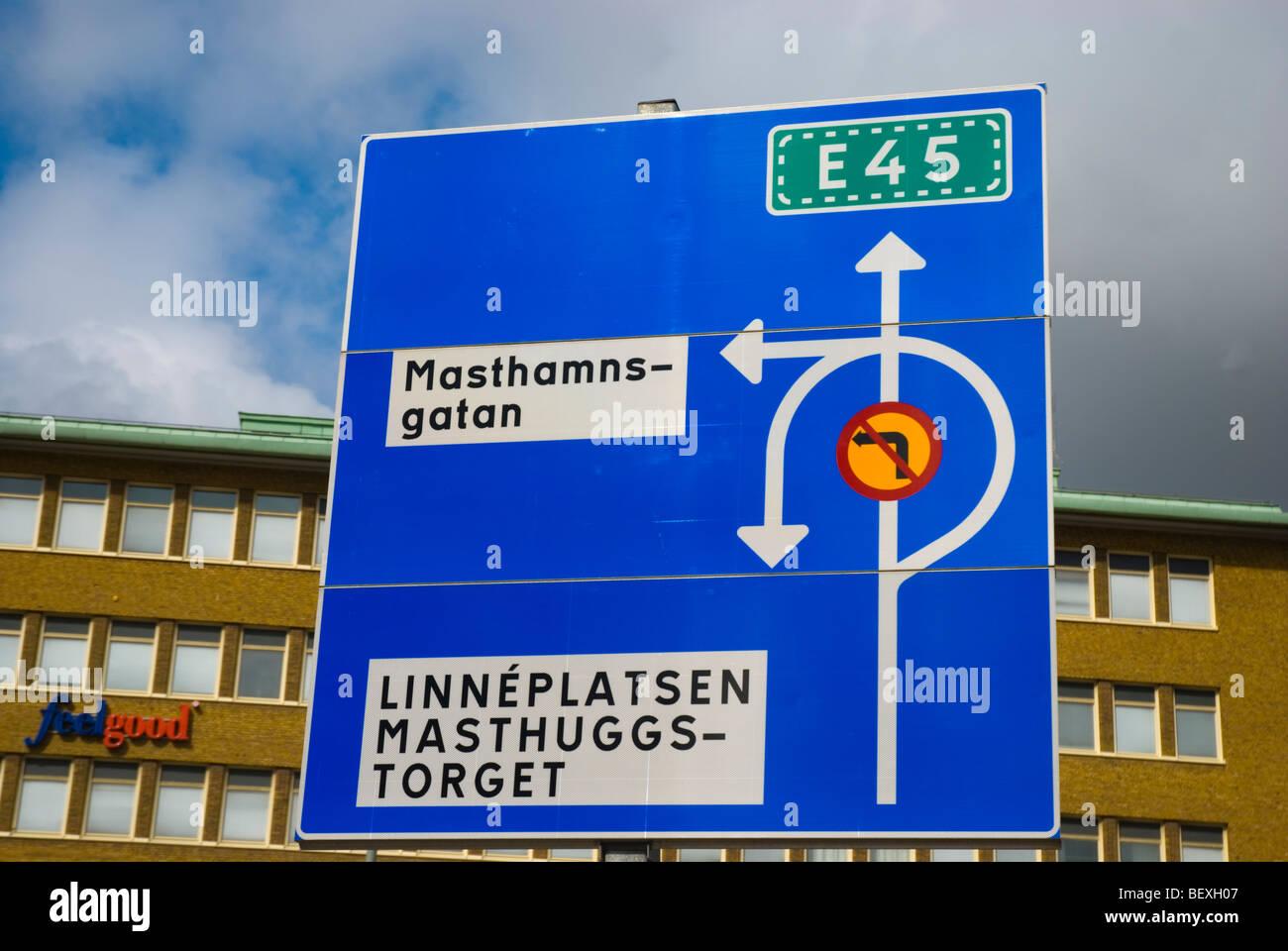 Traffic Sign At J Rntorget Square In Gothenburg Sweden Europe