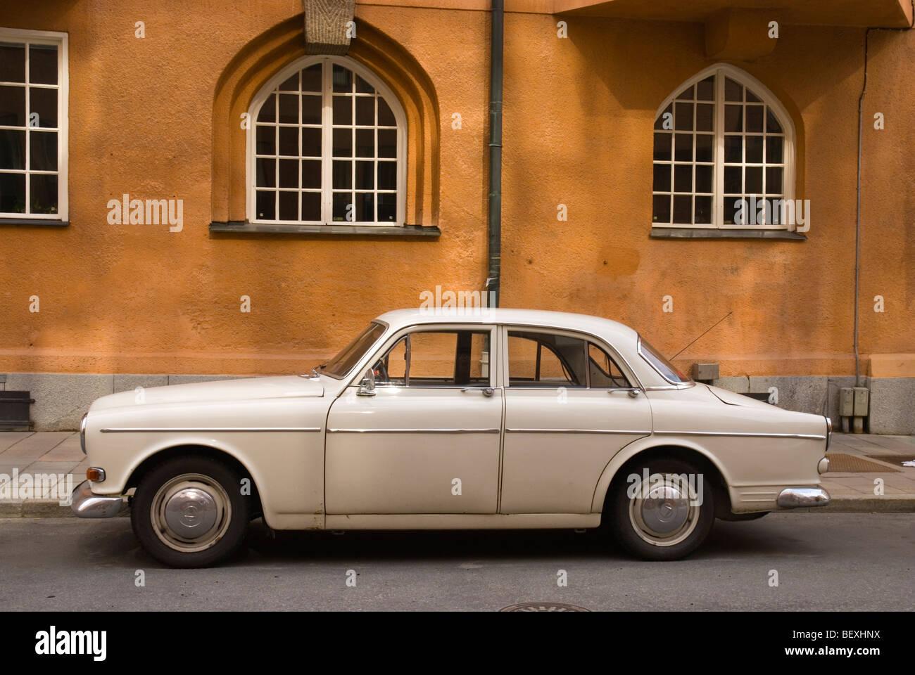 Volvo Amazon passenger car in Östermalm district of Stockholm Sweden Europe - Stock Image