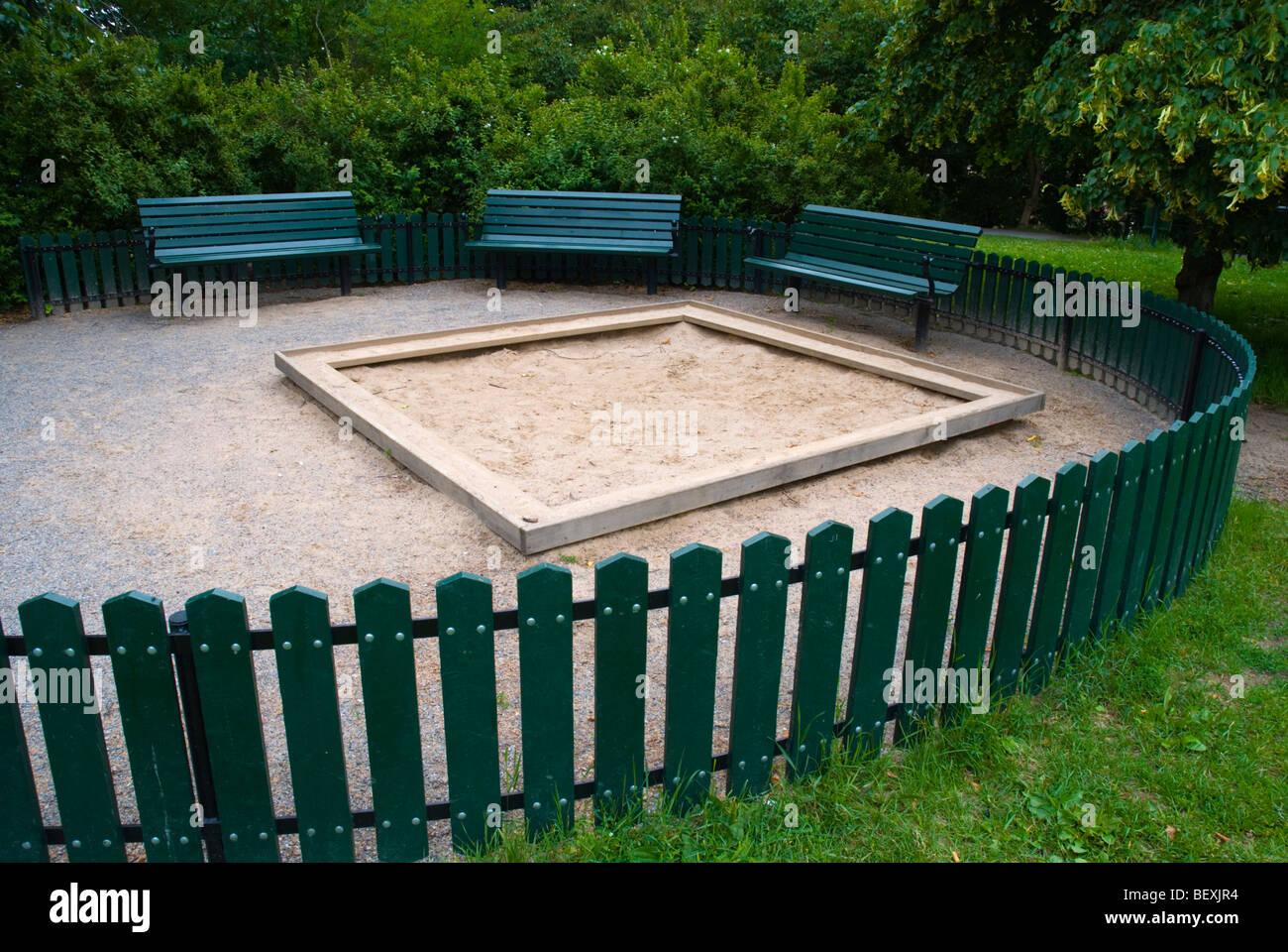Childrens play area at Observatorielunden park in Stockholm Sweden Europe - Stock Image