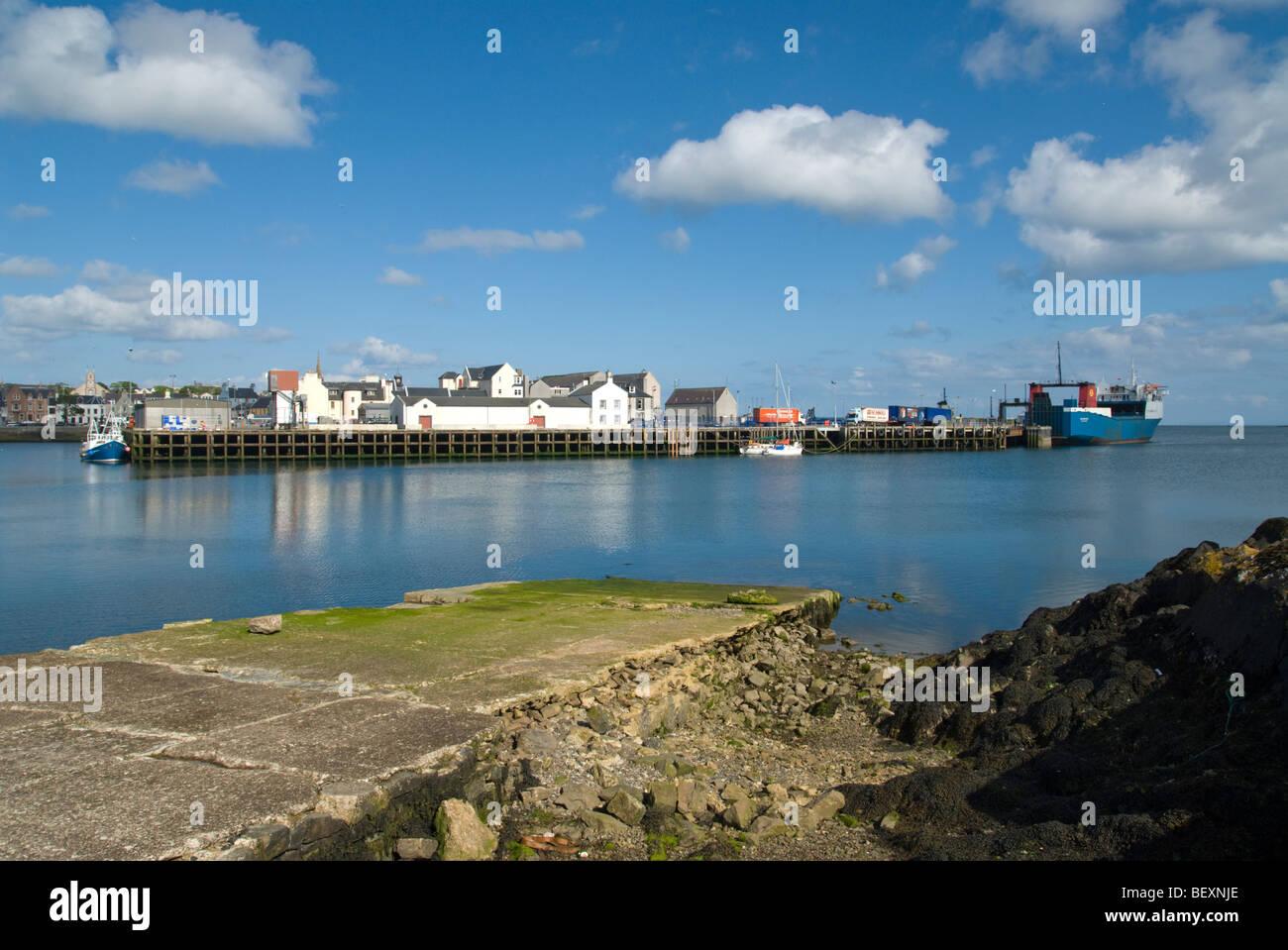 View across Stornoway harbour, Isle of Lewis, Scotland - Stock Image