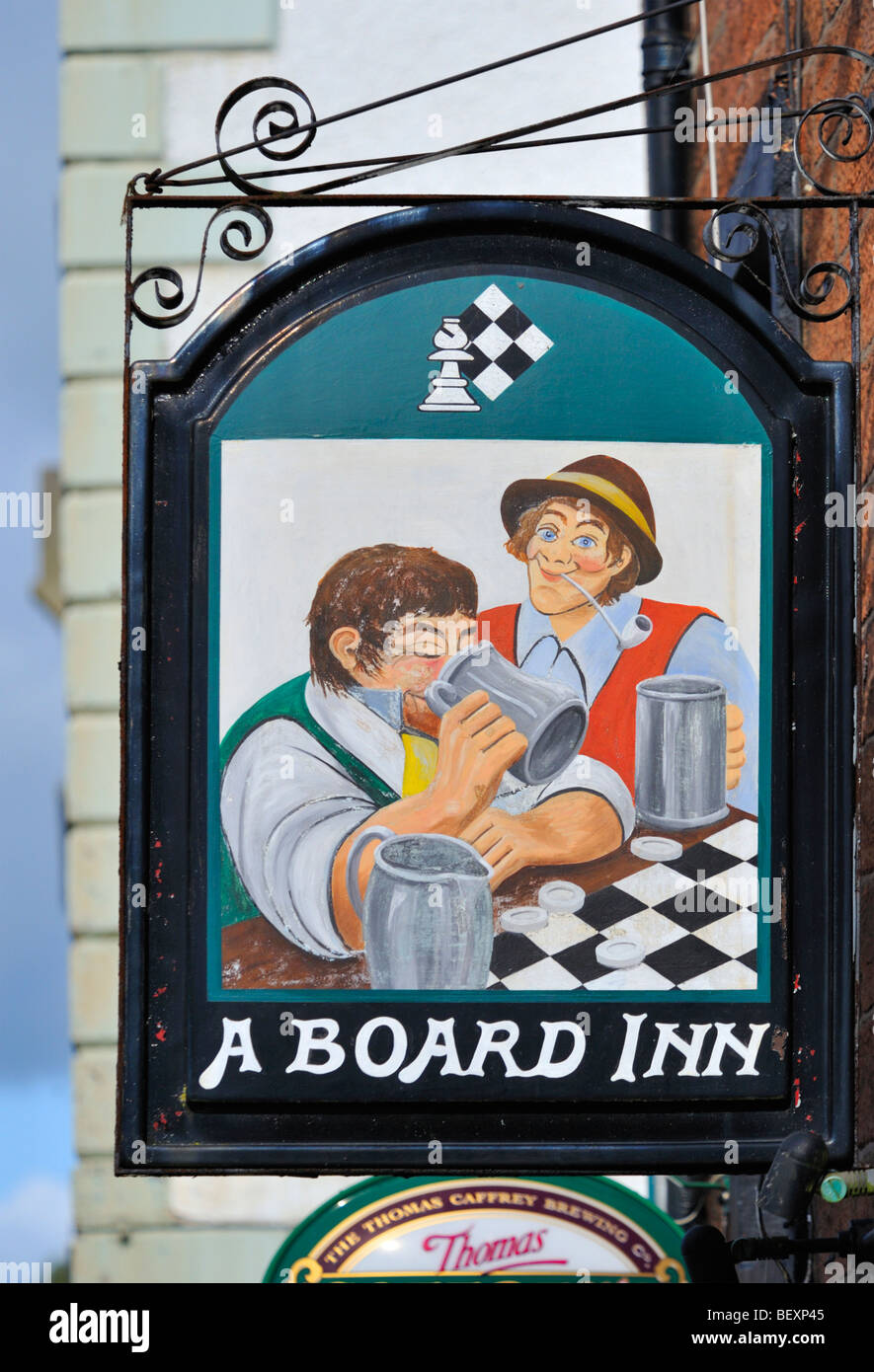 Inn sign , ' A Board Inn ' , Boroughgate , Appleby in Westmorland , Cumbria , England , United Kingdom , - Stock Image