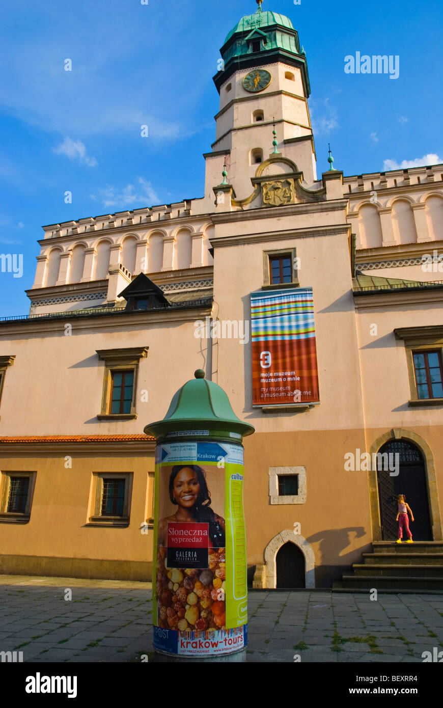 Kazimierz old town hall now houses the Ethnographic museum in Krakow Poland Europe - Stock Image