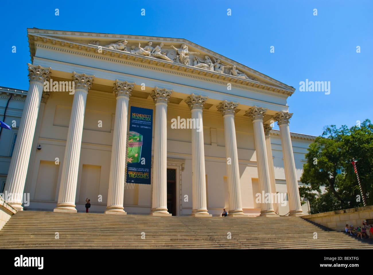 Magyar Nemzeti Muzeum the Hungarian National Museum in Budapest Hungary Europe - Stock Image