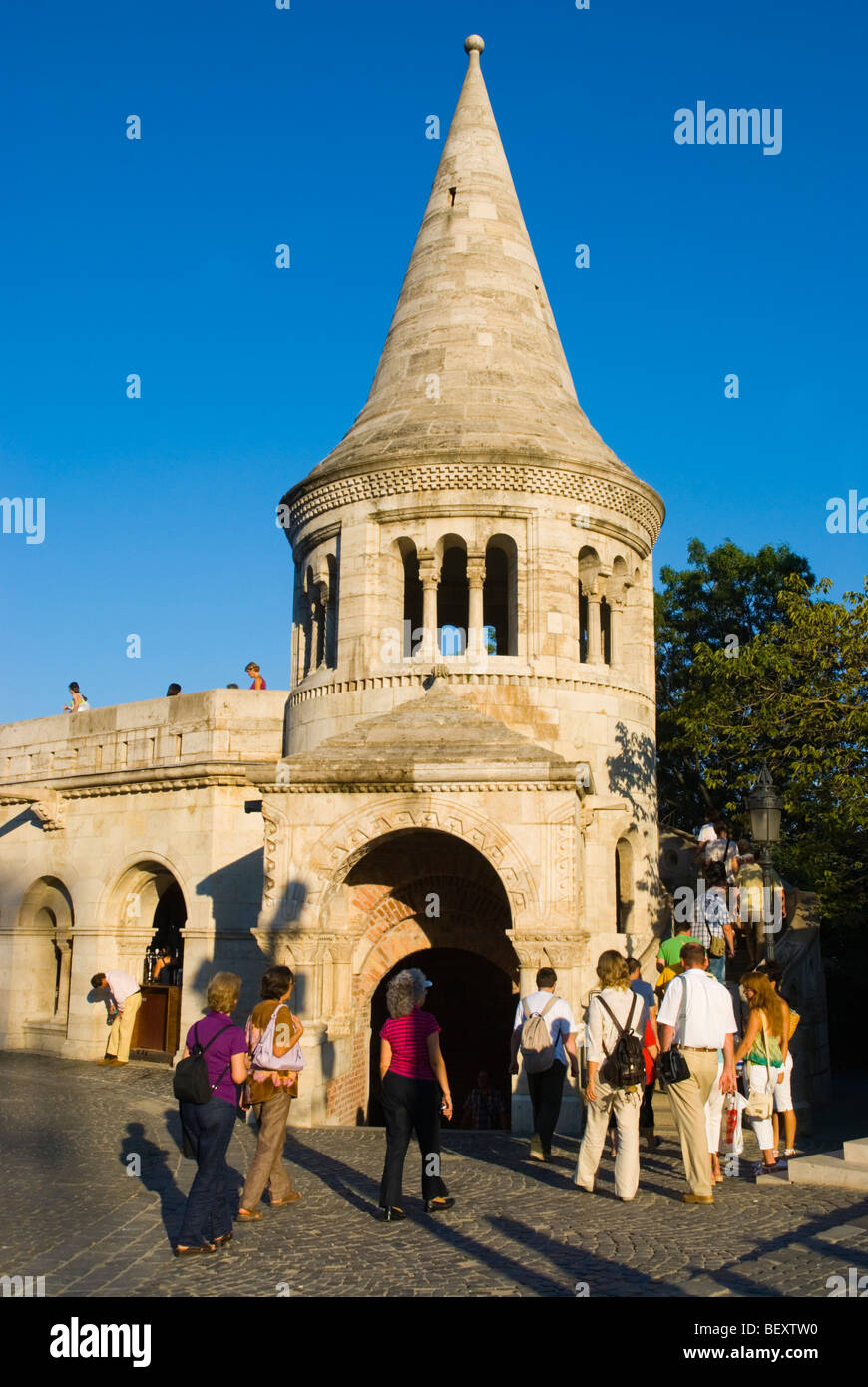 Fishermans Bastion at Castle Hill Budapest Hungary Europe - Stock Image