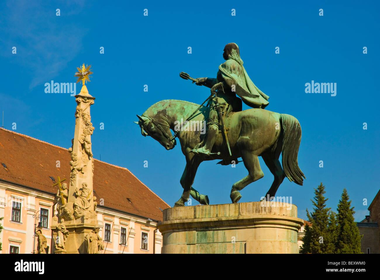 Szechenyi ter square Pecs Hungary Europe - Stock Image