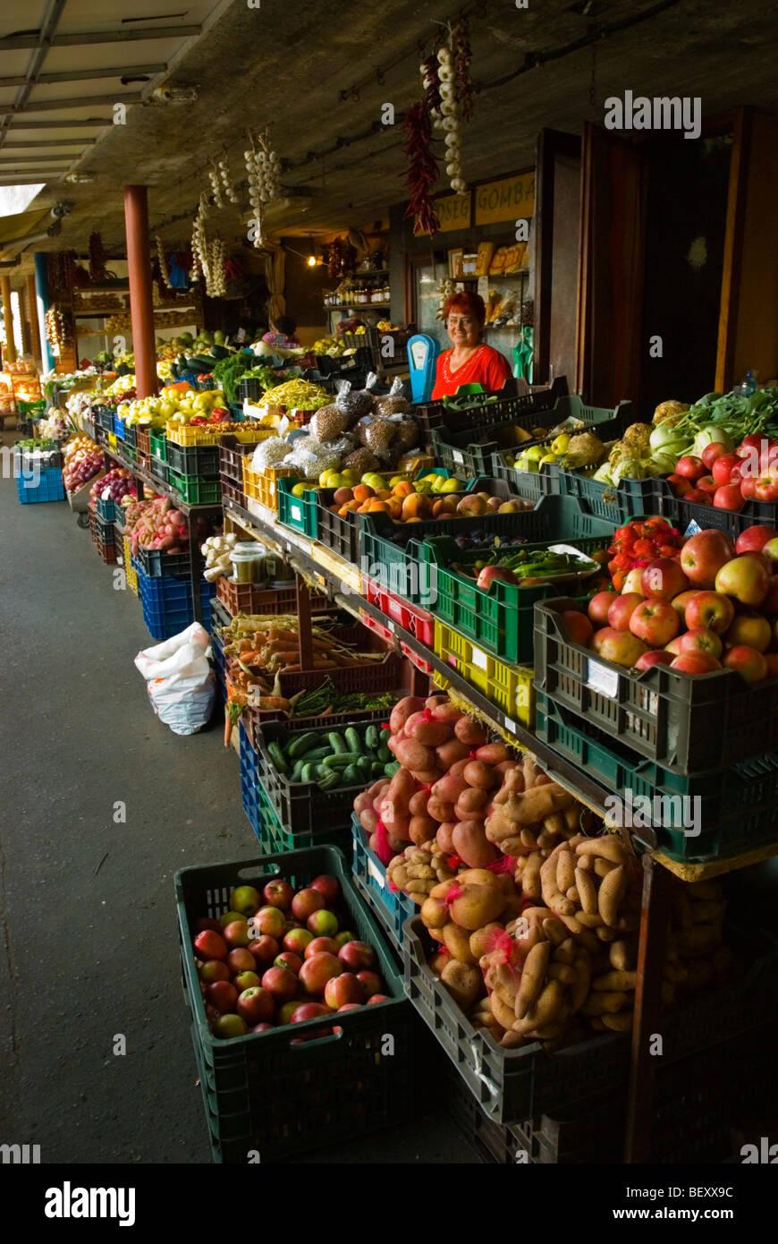 Fresh produce market Sopron Hungary Europe - Stock Image