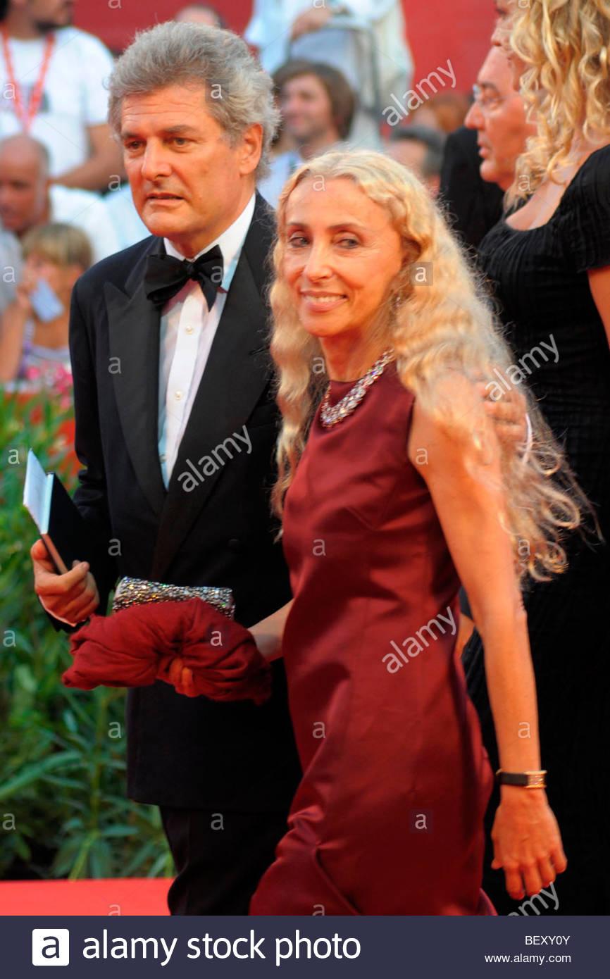 john elkann, franca sozzani, venice 2009, 66th venice film festival - Stock Image