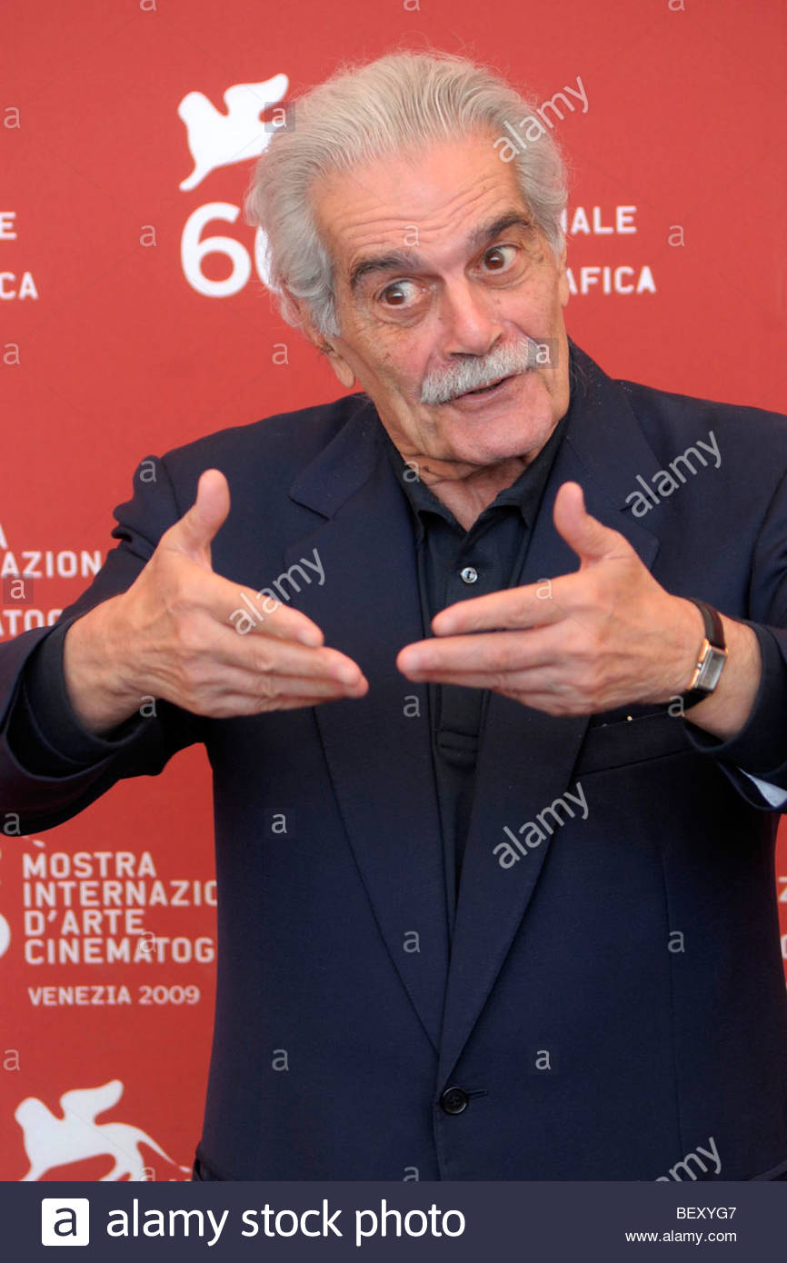 omar sharif, venice 2009, 66th international venice film festival - Stock Image
