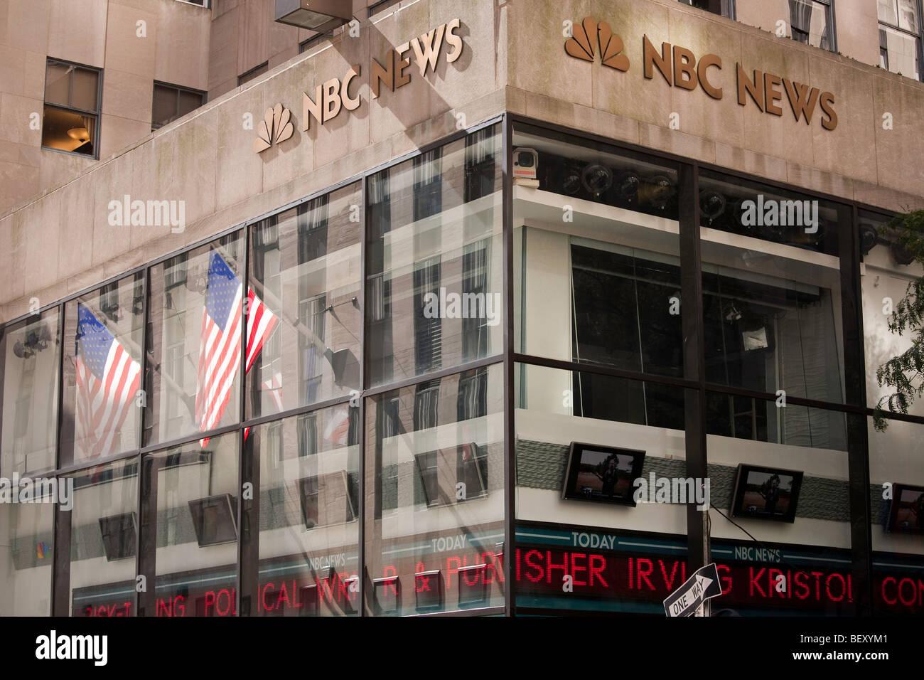 Nbc News Rockefeller Center In New York City Stock Photo Alamy