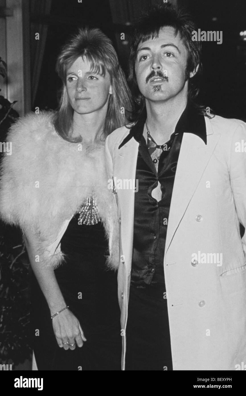 paul mccartney and linda eastman - Stock Image