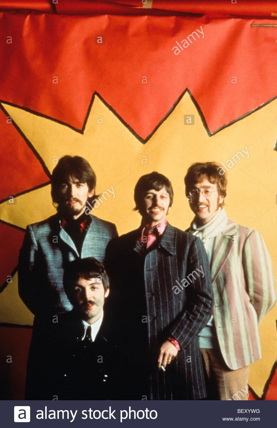 the beatles'george harrison'john lennon'paul mccartney'ringo starr - Stock Image