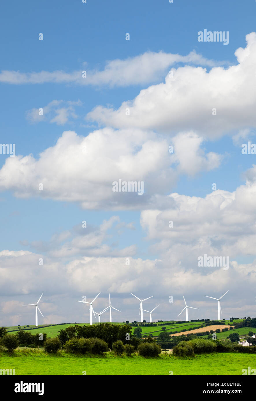Wind farm at Bothel in Cumbria, Lake District, England, UK - Stock Image