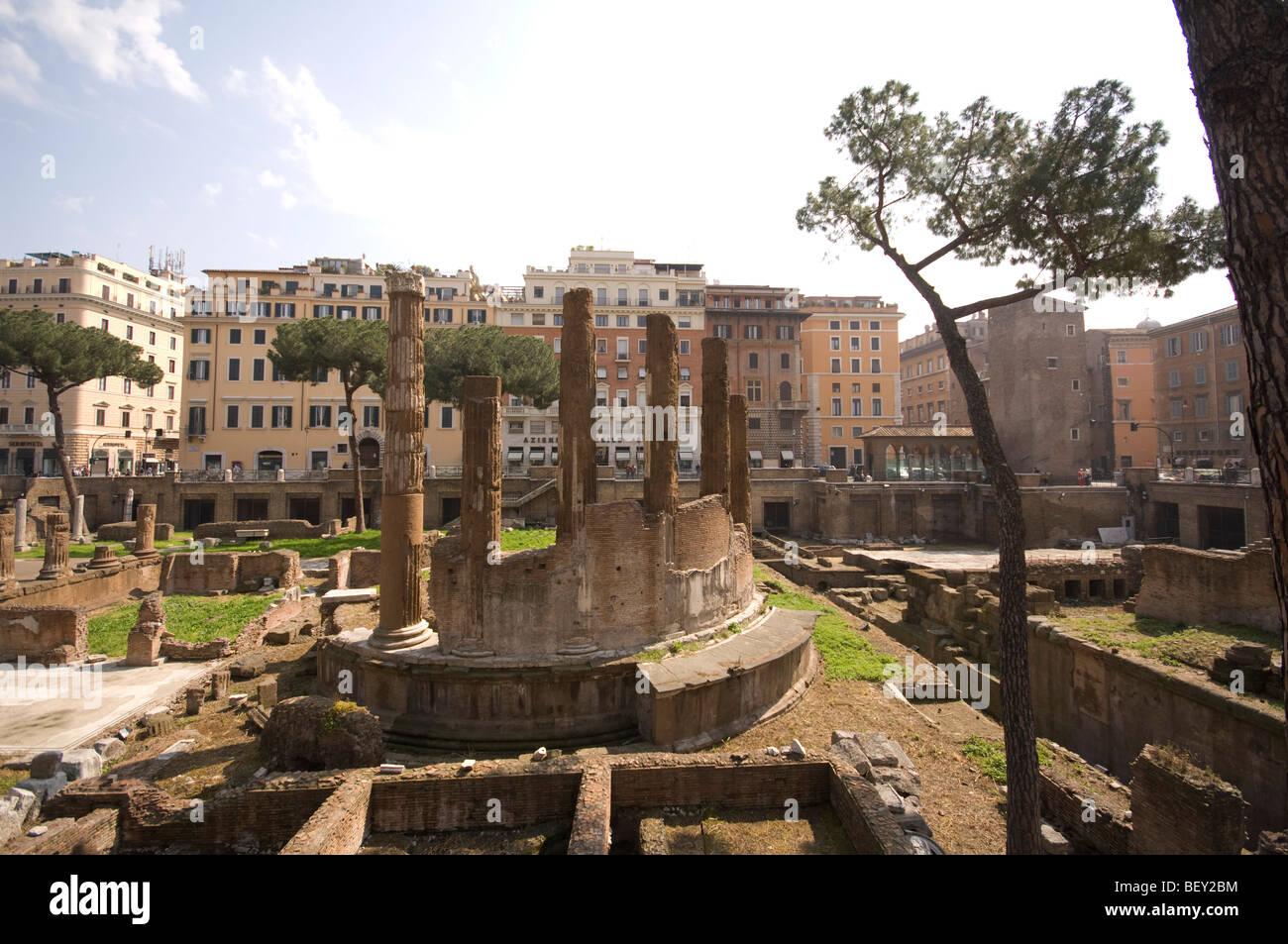 largo di torre argentina, rome, lazio, italy - Stock Image