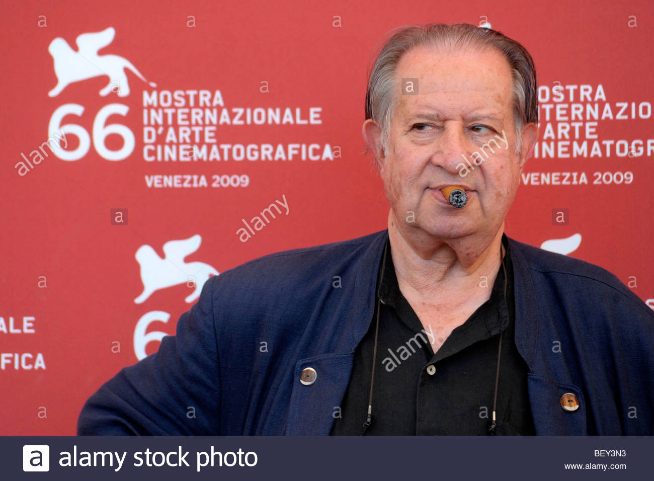 tinto brass, venice 2009, 66th international venice film festival' - Stock Image