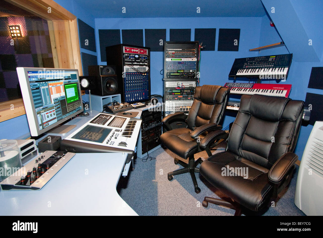 music studio - Stock Image