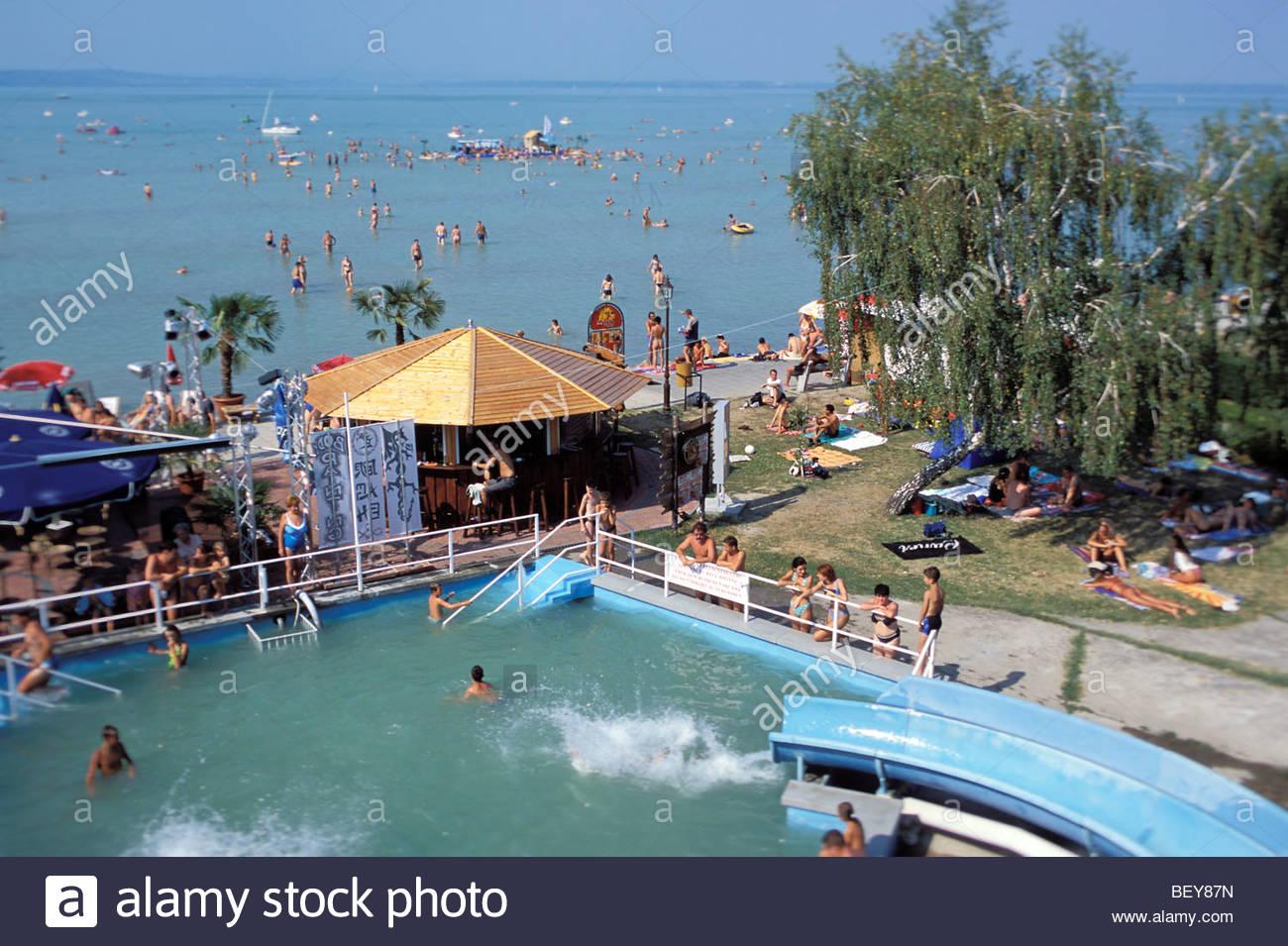 Beach Siofok Lake Balaton Hungary Stock Photo 26414745