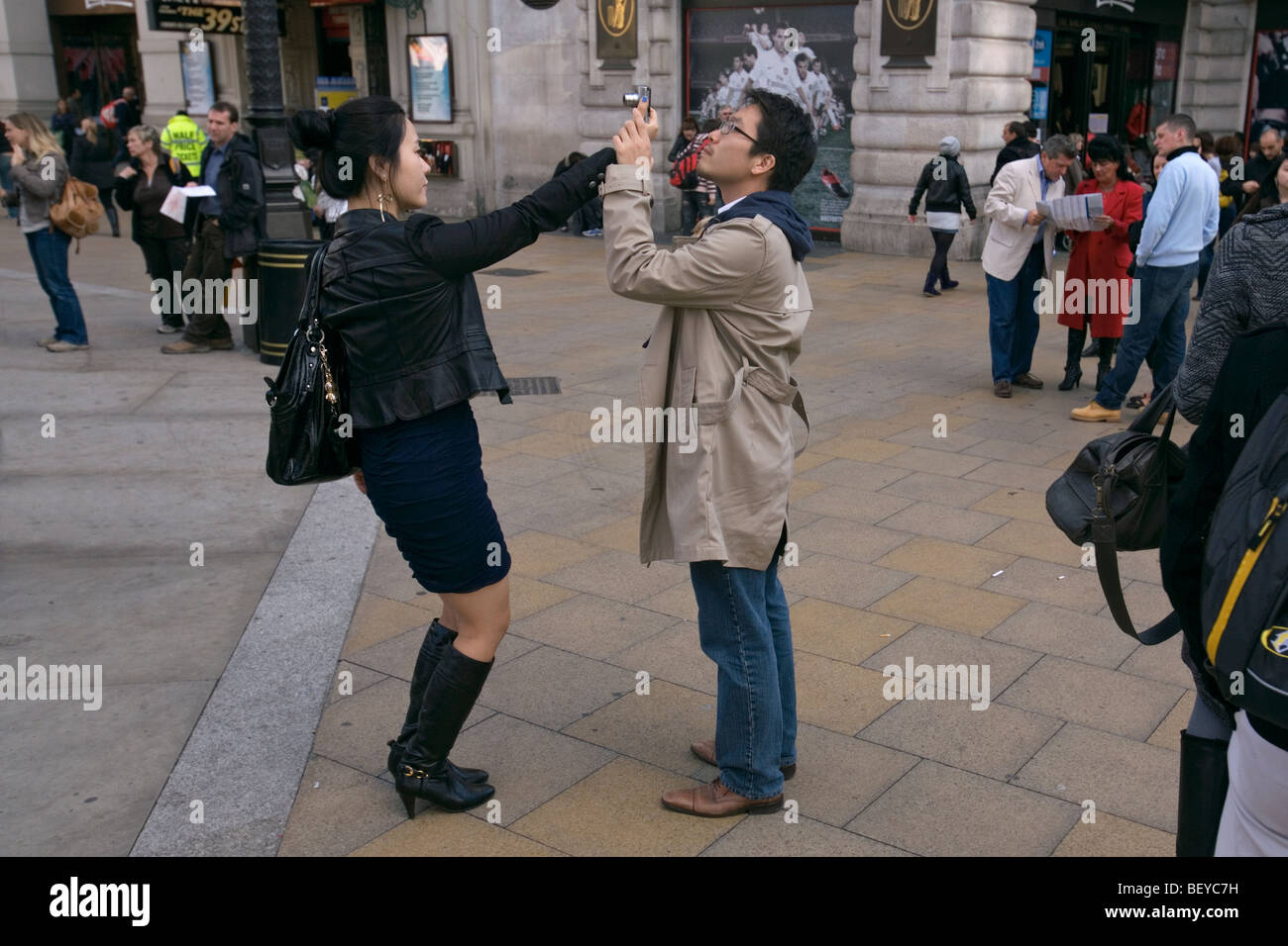 japanese tourists in london - Stock Image