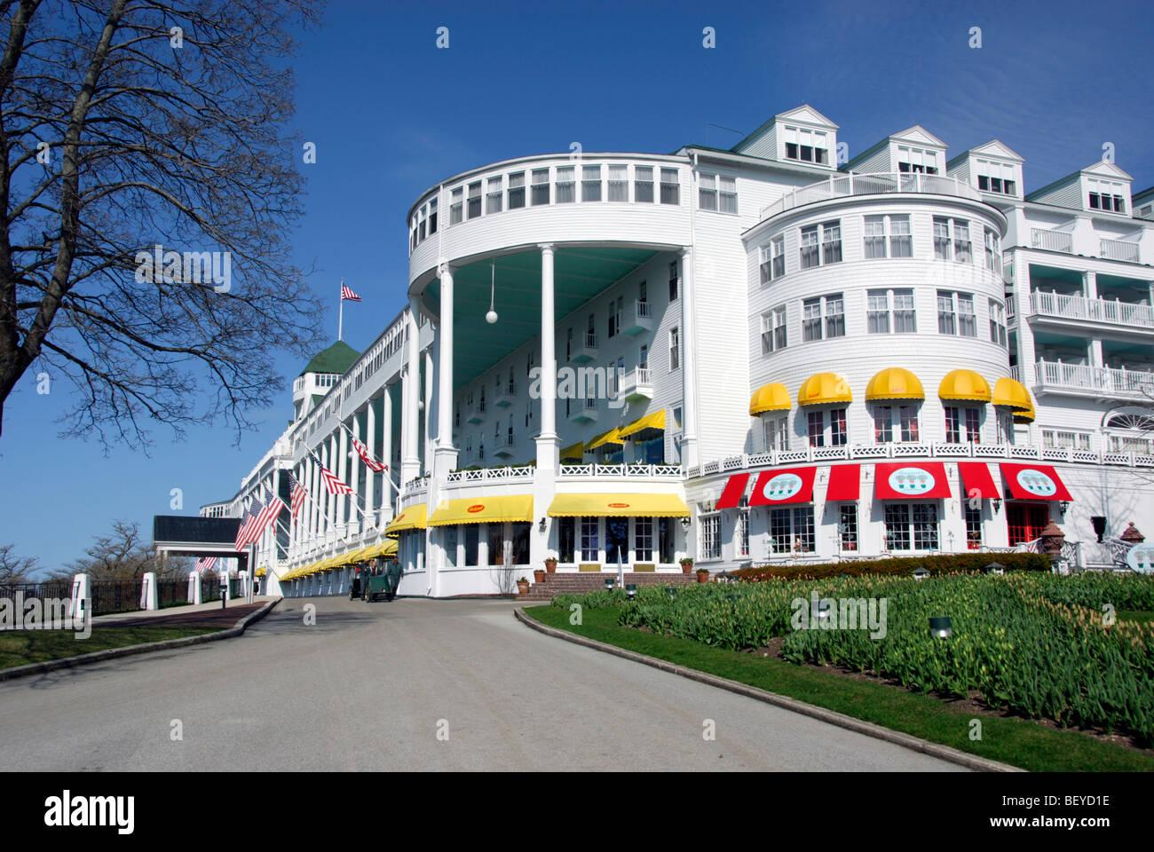 View Of Grand Hotel Mackinac Island Michigan Stock Photo Alamy